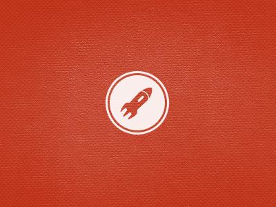 Forky Rocket logo rocket fork texture round circle dine dine project