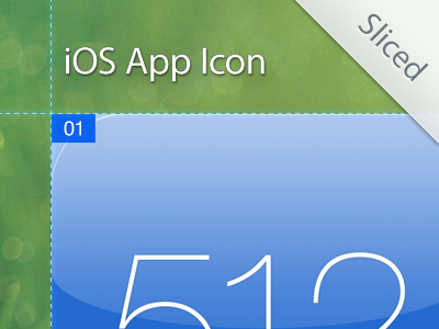 iOS App Icon Template [Sliced] freebie psd icon ios template action slicy