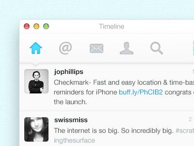Twitter Client UI twitter mac app ui clean blue fresh