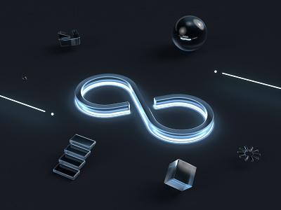 ⚫️⚪️♾ logo branding webdesign octane c4d render 3d