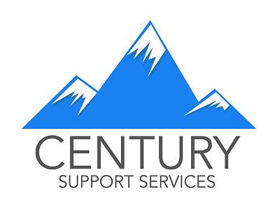 Mountain Caps Branding logo financial blue mountains