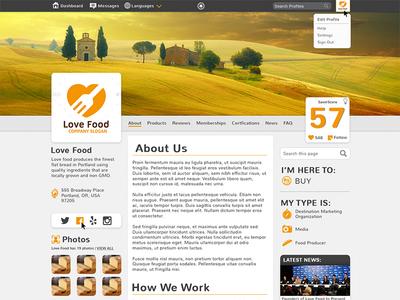 Social Profile Mock design social network ui ux
