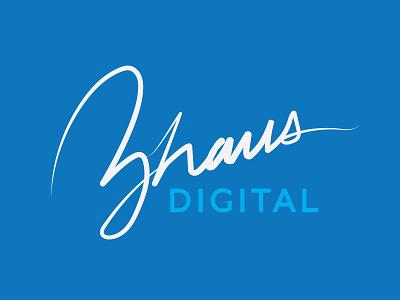 Agency Rebrand cursive hand lettering logo rebrand agency