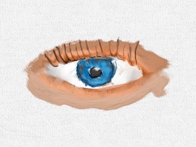Acrylic Eye body parts eye acrylic paint