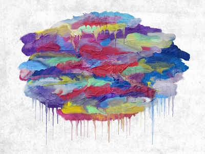 Cloudzz photoshop canvas abstract cloud aged acrylic paint