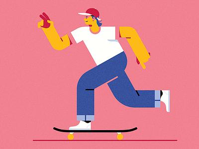 Sk8 or Die sk8 skateboard art illustrator vector skater illustration