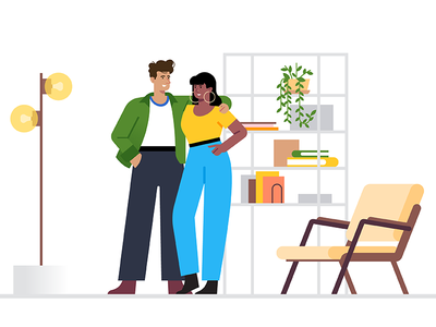 Google Smart Home chair character living room interior home art design google