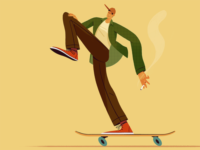 Procreate Illustration skate or die design art procreate skateboarding skater illustrator illustration