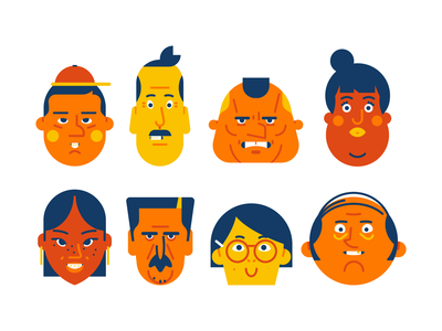 Character Lineup usual suspects lineup characters vector art character illustration illustrator