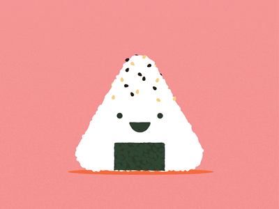 Onigiri kawaii onigiri art vector illustrator design illustration