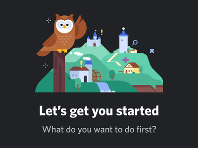 New User Journey owl discord character art vector design illustrator illustration