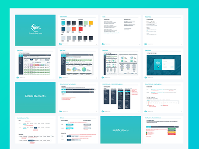 Flipp Campaign Manager Style Guide system interface application toolkit elements logo typography pallete branding ux ui