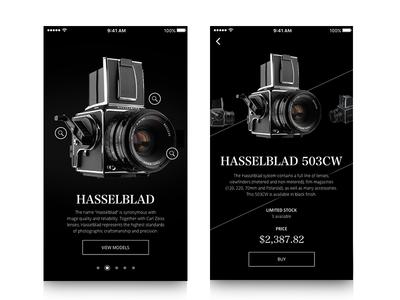 Hasselblad Camera Mobile Screens