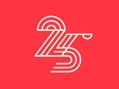 Unused Twenty-Five twenty-five shapes lines number logo 25