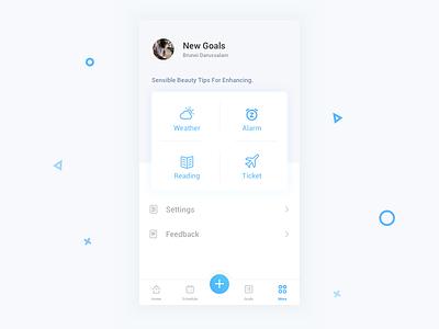 User Center viggoz more ux ui schedule setting user android ios app calender