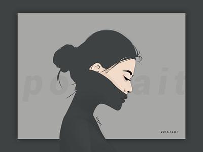 Portrait digital paint paint girl ai ps brushes pixar people illustration portrait