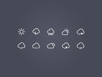 Weather icon cloud direction fog icon kit lightning rain snow sun temperature weather wind