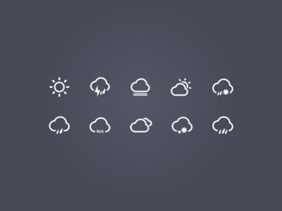 Weather icon cloud direction fog icon kit lightning rain snow sun temperature weather wind