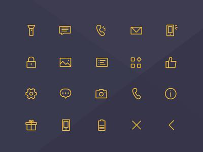 Flashlight Icon setting about camera pic great menu mail phone flightlight lock battery icon