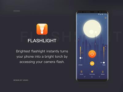 Flashlight Dribbble Cover flashlight dark moon building light