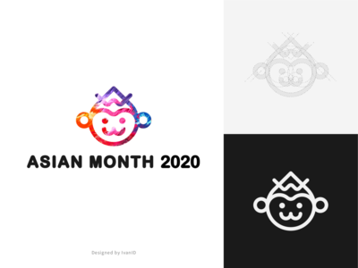 A logo for an anniversary event icon anniversary monkey logo
