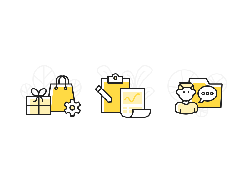 About The Order illustration customer shopping order