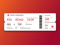Air Canada Boarding Pass Redesign