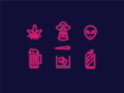 Weekend Icon's pbr whiskey scotch alien ufo beer weed weekend icons