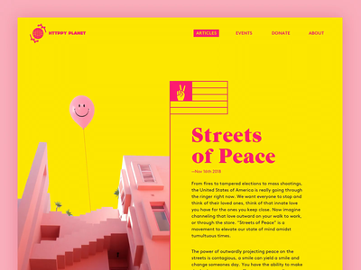 ✌️✌️✌️✌️ yellow pink article sketch dailyui typography blog design layout ui