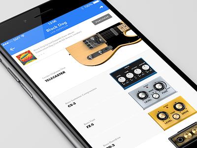 Pedalboard IOS App concept ios ui 3d list