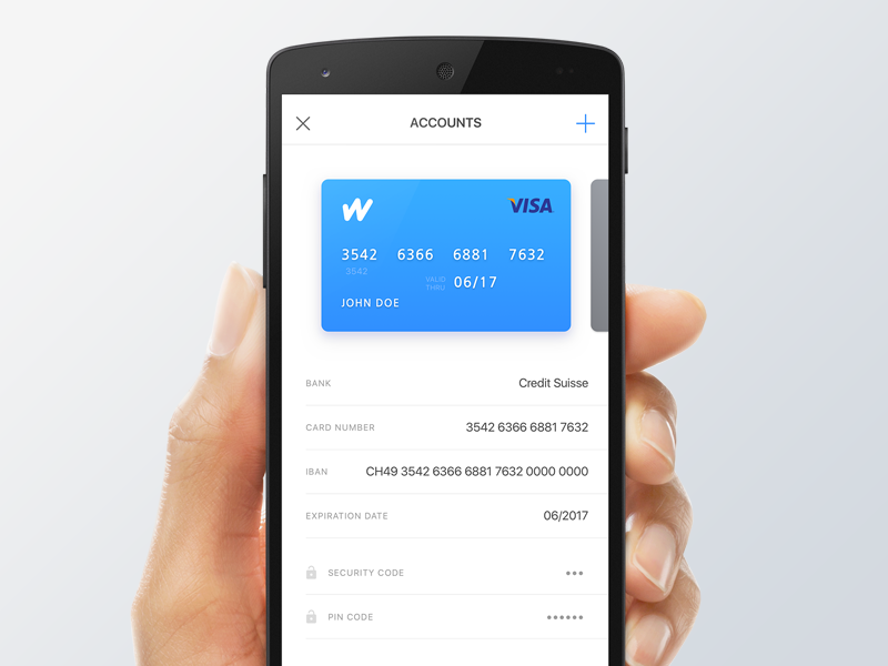 Expense tracking app account flat bank credit card banking finance ios
