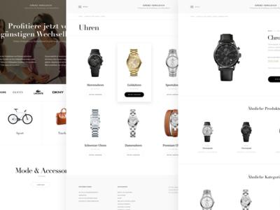 Grenz Vergleich web layouts luxury design web ecommerce