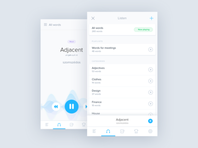 Playlist - Audio Dictionary