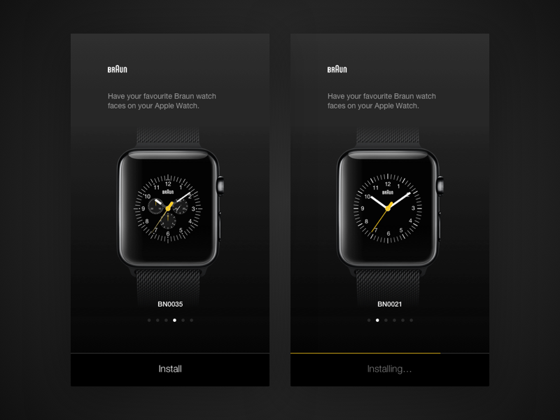 Braun Apple Watch faces dark ios braun watchface apple watch
