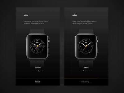Braun Apple Watch faces dark ios braun watchface apple watch