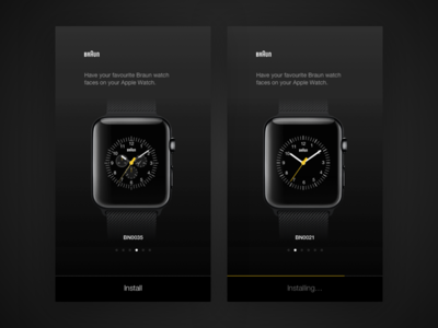 Braun Apple Watch faces
