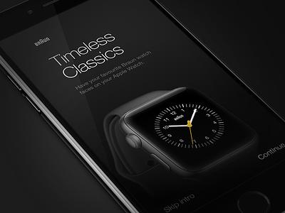Braun Timeless Classics watch face dark braun watch