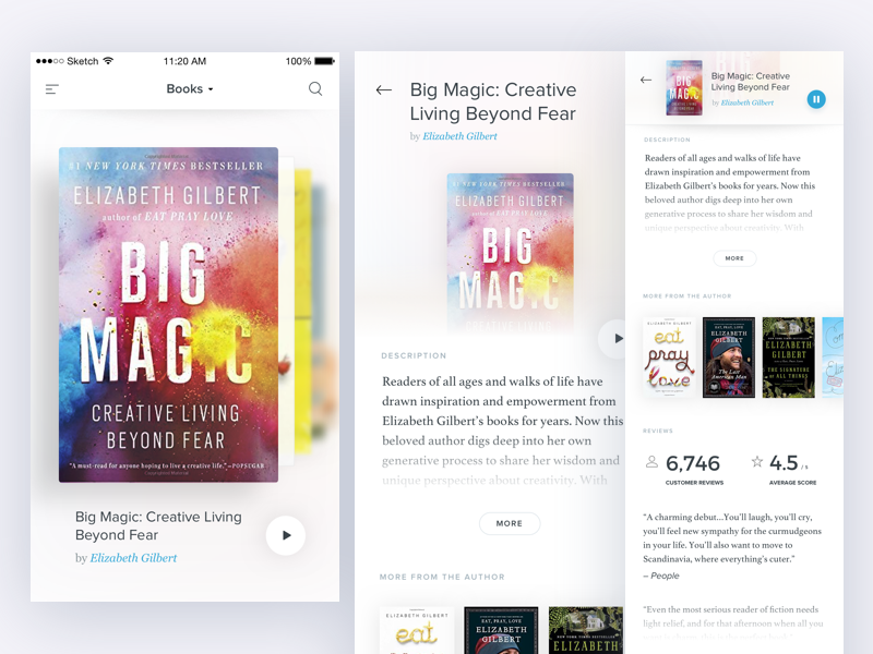 Books sticky header slideshow book audiobooks books ios