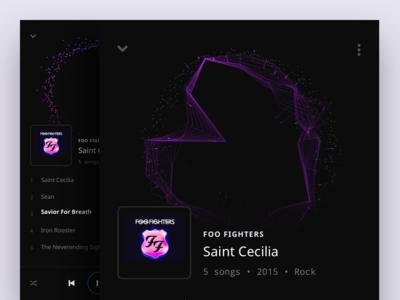 Music Player Album View ui playlist player music dark album after effects