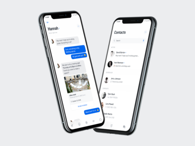 Contact list + chat iphonex ios chat