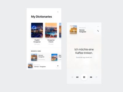 Audio Dictionary audio player dictionary