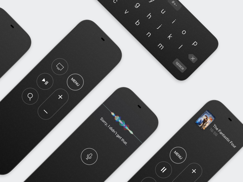 Apple Remote with Oled Display concept oled remote apple