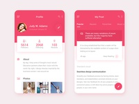 Daily UI Design for my post and profile