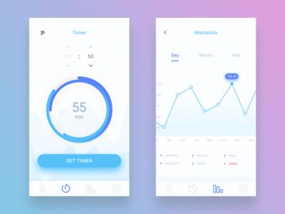 Pie Chart Design blue app simple pie graph clean chart