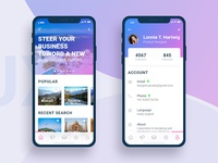 Tourist Guide and Profile iPhone X Screen