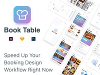 Book Table Mobile App Restaurant UI Kit