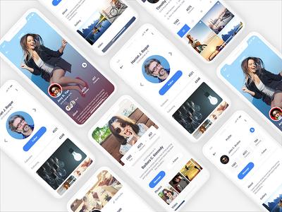 Multipurpose UI Kit Profile Screens mockup ux ui kit ui profile multipurpose modern iphone x design clean