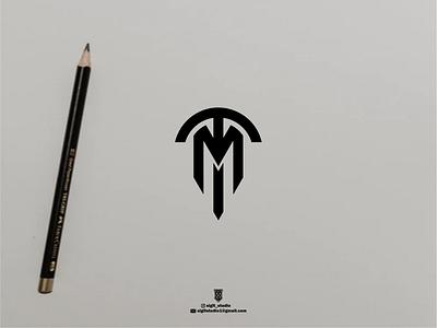 TM MONOGRAM usa branding design monogram logo design logo lettering illustration icon vector