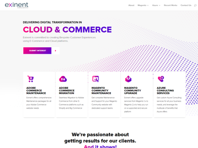 Website Redesigning for exinent.com website redesign design css divi theme wordpress