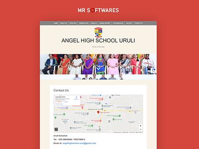 Website for Angel high school css website redesign website design wordpress w